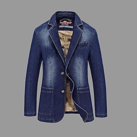 Abrigos de vaquero de los hombres 2018 nuevas chaquetas de primavera y otoño de moda Casual ...