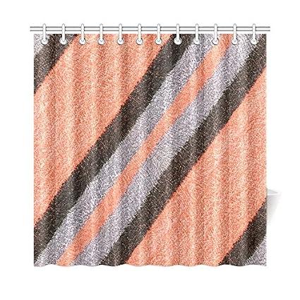 WBSNDB Fabric Textile Texture Surface Peach Grey Gray Polyester Shower Curtain Bathroom Sets Home Decor