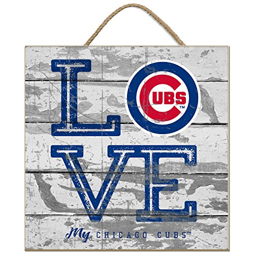 Prints Charming MLB Chicago Cubs Womens Love Cubs Whitelove Cubs Plaque, White, 10x10 ()