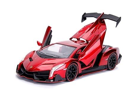 Amazon Com Jada 1 24 Hyper Spec Lamborghini Veneno Candy Red