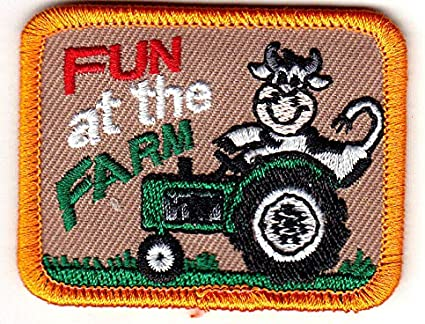 FARM FUN Iron On Patch Animals Chickens Ducks Cows Vegetables
