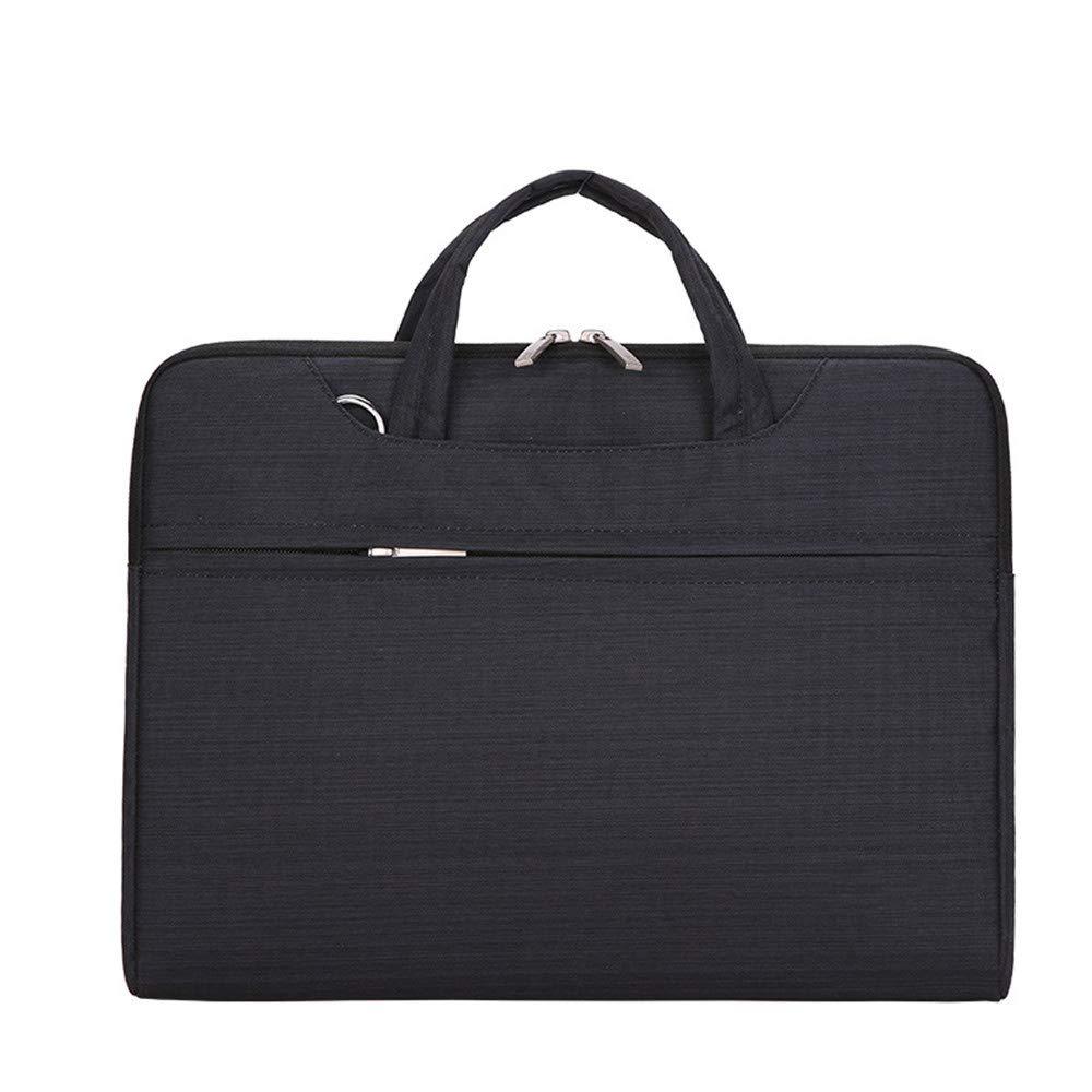 Amyannie Laptop Messenger Bag Striped Liner Bag Multifunction Notebook 11''/12''/13''/14''/15'' Business Computer Bag Briefcase Laptop Messenger Bag (Color : Black, Size : 12'') by Amyannie (Image #1)