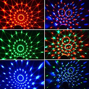 Disco Lights Sound Activated Party Lights, Dj Strobe Light, Disco Ball Light, with Remote Control 7 Modes Stage Light, for Birthday Home KTV Christmas Halloween Parties Wedding Show Club [2-Pack] (Tamaño: 2-PACK)