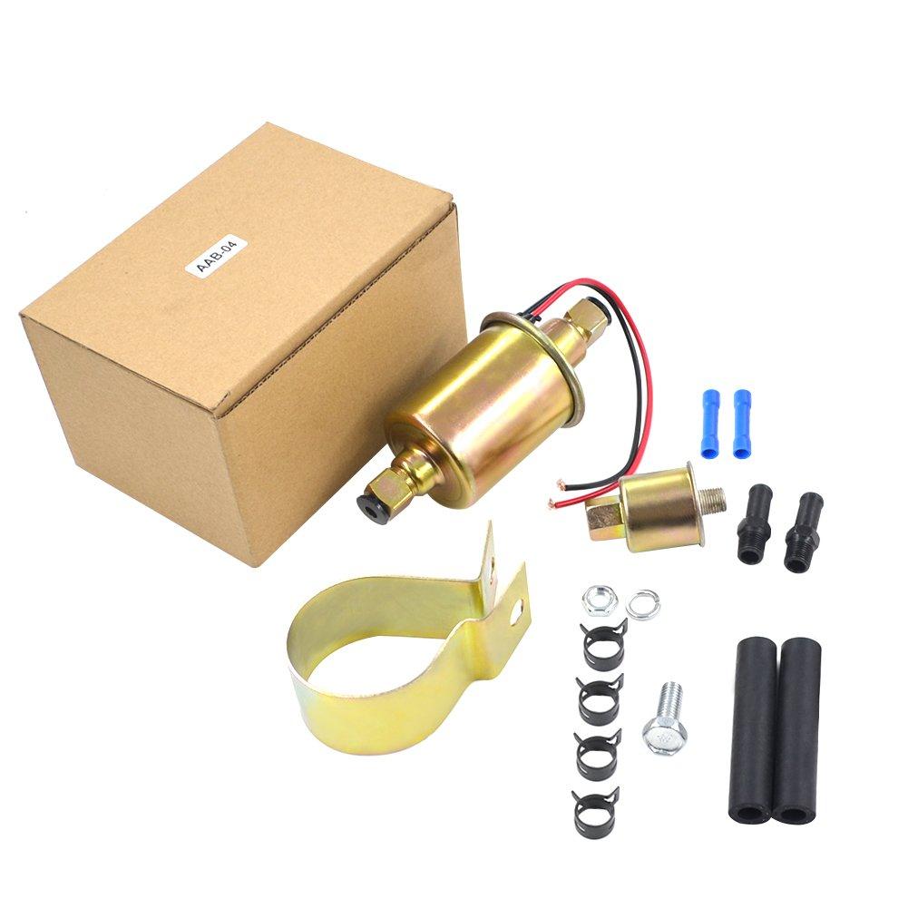 AHL 12V Pompa Benzina Universale Diesel a Gas Pompa Elettrica del Carburante con Kit di InstallazioneGA8012S E8012S fü r Jeep