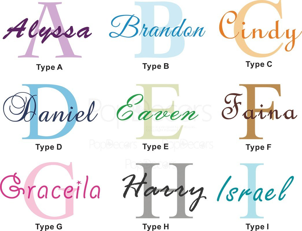 amazon com popdecors wall decals stickers personalized name amazon com popdecors wall decals stickers personalized name decal free squeegee and color change baby nursery monogram wall decal art baby
