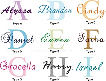 PopDecors Wall Decals U0026 Stickers   Personalized Name Decal   Free Squeegee  And Color Change   Part 53