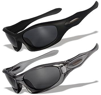 2 gafas de sol deportivas con lentes polarizados y marcos originales [MD], MD11