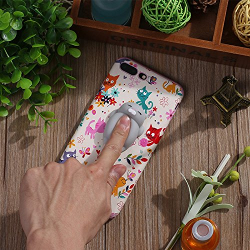 Pinzhi Netter Karikatur-Telefon-Kasten für iPhone 6 Plus, iPhone 6s Plus 3D Netter Weicher Silikon-Pappy Squishy Katze