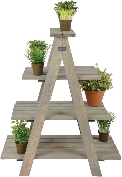 Esschert Design - Estantería de escalera para plantas, 62 x 39 x 73 cm, en madera, 4 pisos, escalera de madera: Amazon.es: Hogar