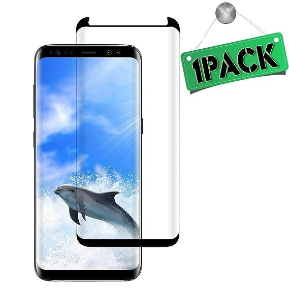 Amazon Com 2pack Galaxy S8 Plus Black Screen Protector Hd