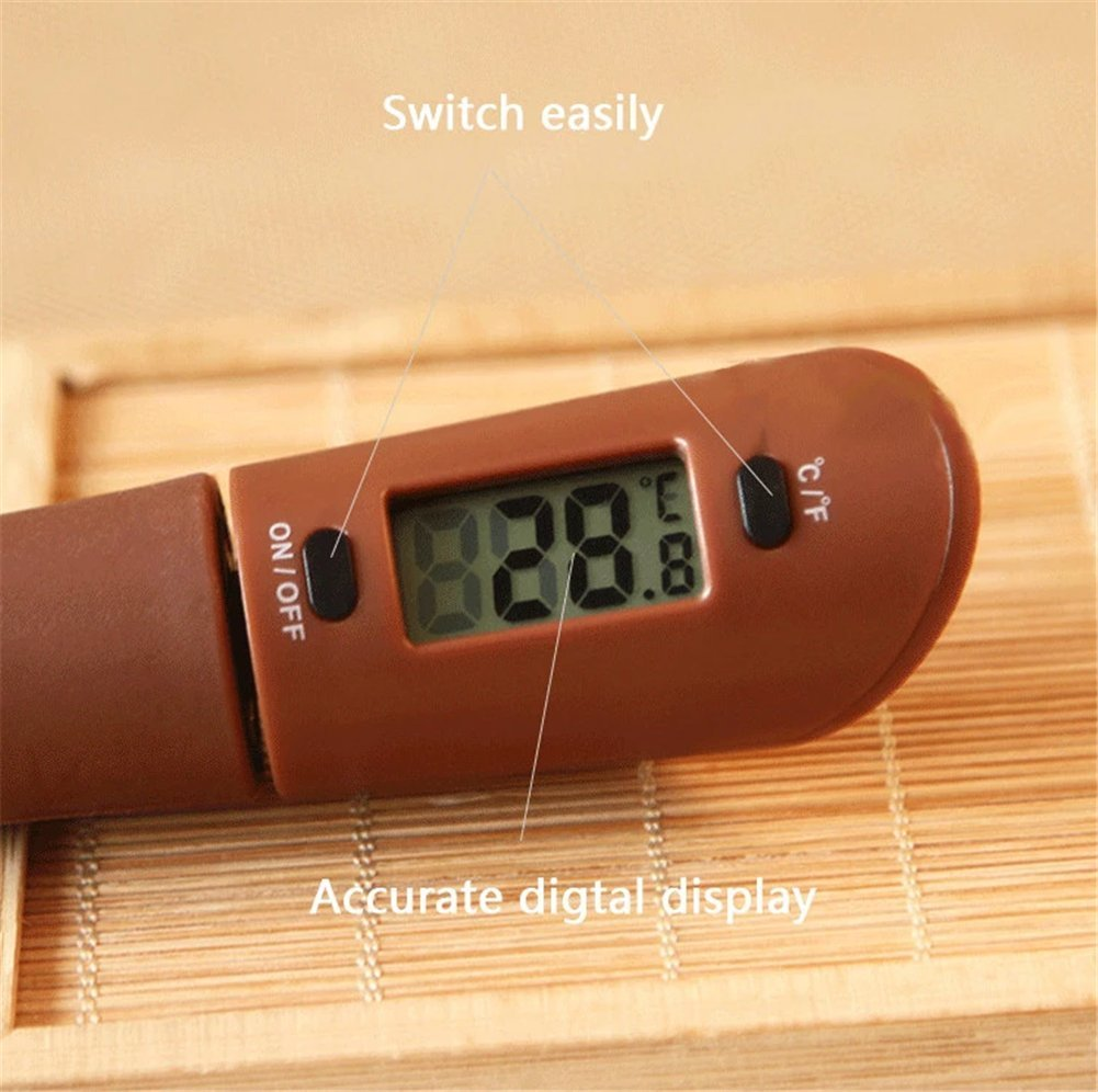 LLVV Digital Food Cooking Thermometer Portable Silicone Chocolate Blade High Temperature Electronic Thermometer Thermocouple Baking Measurement by LLVV (Image #4)