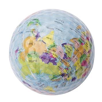 cloudwhisper 3 piezas mundo tierra globo pelota de Golf doble capa ...