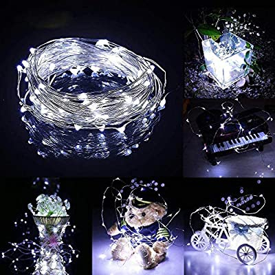 Fairy String Lights, Battery Operated Waterproof Remote Control 30 Led 3M Indoor Lights Copper Wire Twinkle Lights for Bedroom Wedding Party Dinner Festival Decor