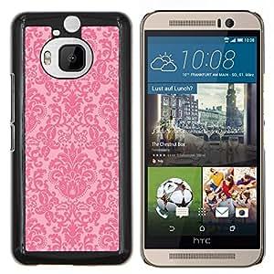 Dragon Case - FOR HTC One M9+ / M9 PLUS - vintage retro rustic pink wallpaper - Caja protectora de pl??stico duro de la cubierta Dise?¡Ào Slim Fit