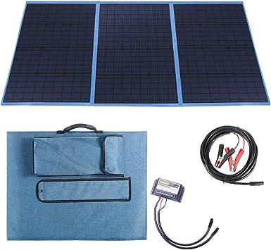 Betop-camp Panel Solar Plegable de 150 Vatios con Controlador de Carga Salida de CC Cargador Portátil al Aire Libre en Maleta con un Controlador de ...