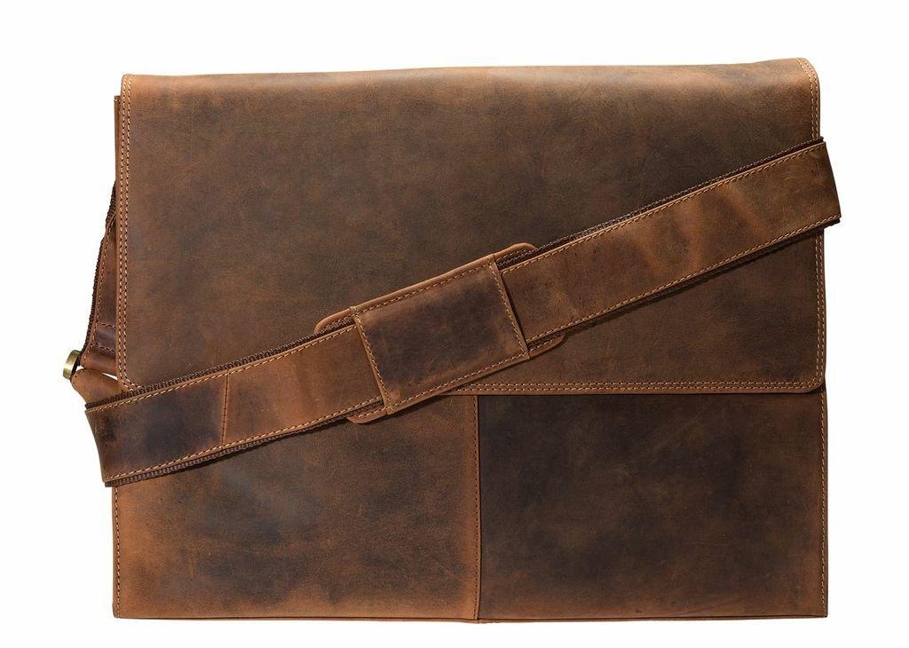 Visconti Half Flap Xl Messenger Bag, Tan, X-Large