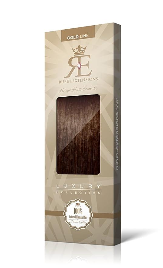 Extensiones de cabello natural | Extensiones de cabello Flequillo | Extensiones de Flequillo | 100% Natural Cabello Remy CASTAÑO OSCURO de Rubin Extensions: ...
