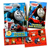 Thomas The Train Coloring Pack Party Favors with Stickers, Crayons and Coloring Activity Book in a Resealable Pouch ~ Plus Separately Licensed 2X3 Inch Coloring Fun Stickers Included