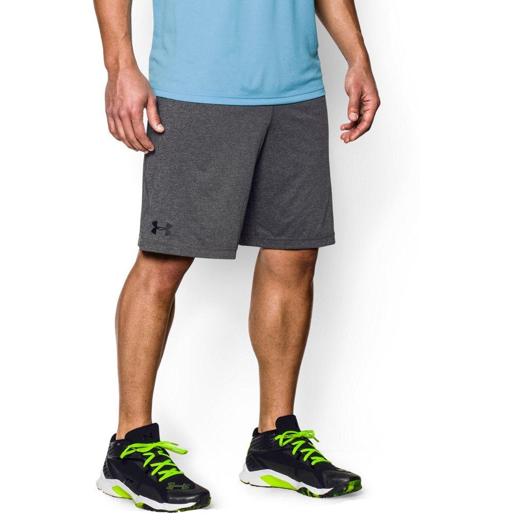 Under Armour Men's Raid 10'' Shorts, Carbon Heather/Black, Large
