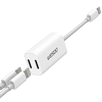 iPhone 7 Adapter & Splitter, Wesoo Dual Lightning Headphone ...