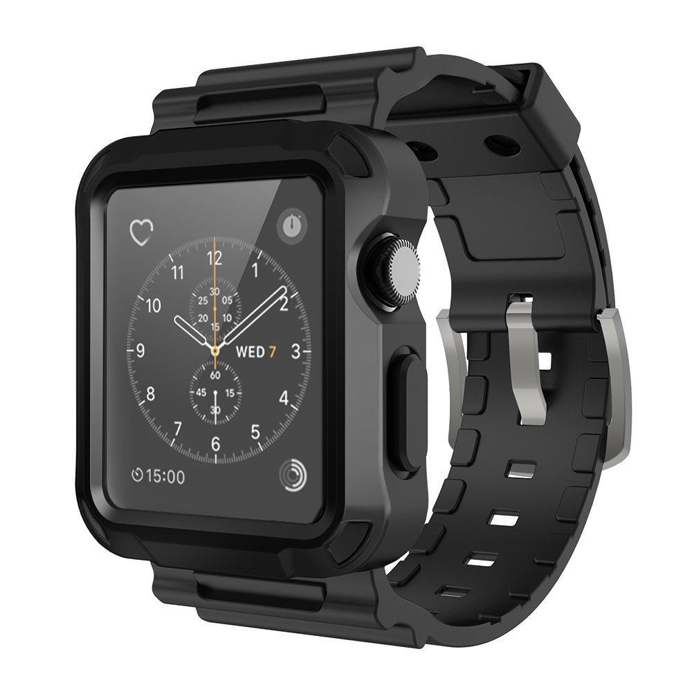 comparar el precio elige genuino como comprar Details about funda protector resistente iW interfer con correa Para  pulsera Apple Watch 42mm