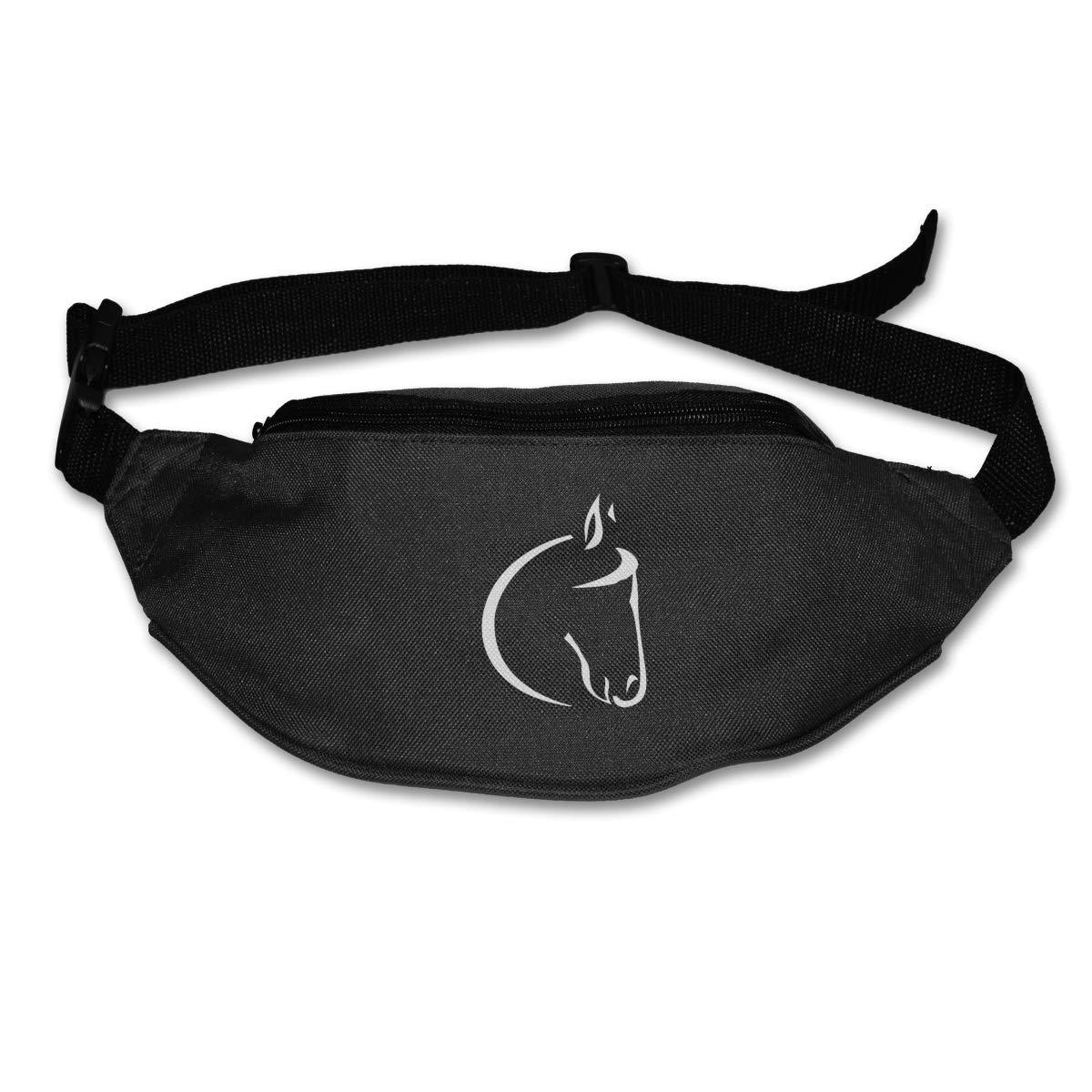 White Horse Lovers Sport Waist Packs Fanny Pack Adjustable For Run