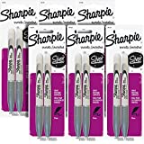 Sharpie Metallic Permanent Markers, Fine Point, Metallic Silver, Pack of 12