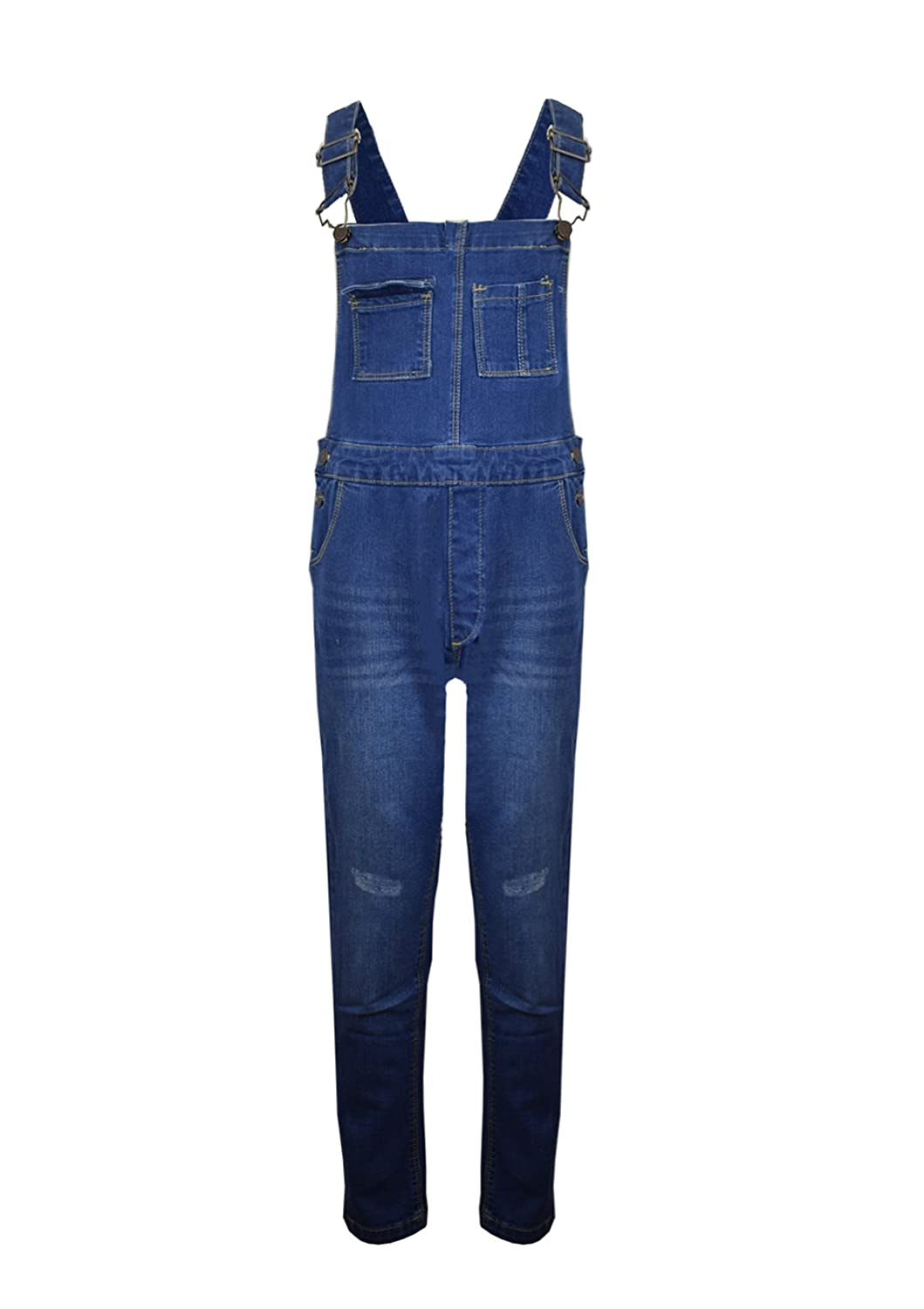 Vanilla Inc New Kids Girls Boys Denim Childrens Stretch Dark Wash Dungarees Playsuit Jumpsuit Long Dress UK Jeans Bib Overalls Pinafore Age 7-13