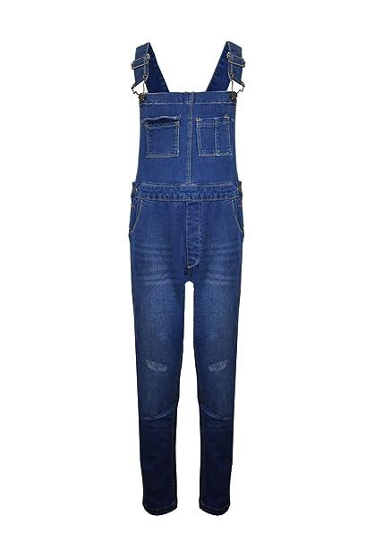 fb522f6a0b0 Vanilla Inc New Kids Girls Boys Denim Childrens Stretch Dark Wash Dungarees  Playsuit Jumpsuit Long Dress UK Jeans Bib Overalls Pinafore Age 7-13  ...
