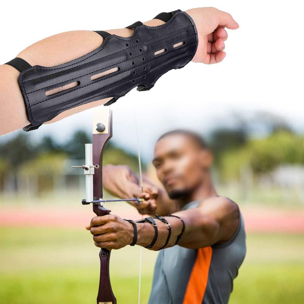 Fsskgx Guardia del Braccio per tiro con LArco Accessorio Regolabile per protettore dellavambraccio