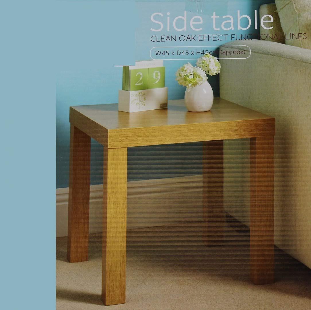 Mbs Oak Effect Side End Table