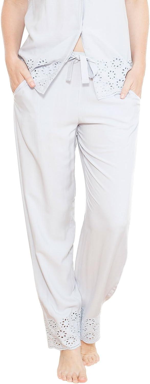 TALLA 44. Cyberjammies 3688 Women's Beetrix Grey Solid Colour Pajama Pyjama Pant