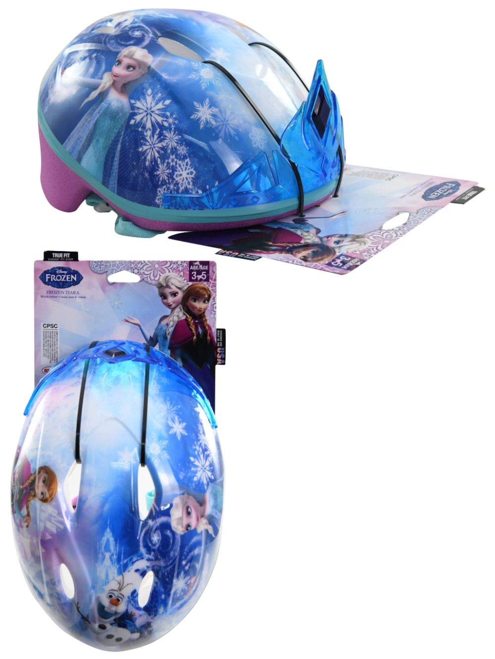 Frozen Toddler Kids Bike Helmet for Girls Ages 3-5 years by Disney with Princess Tiara by Disney