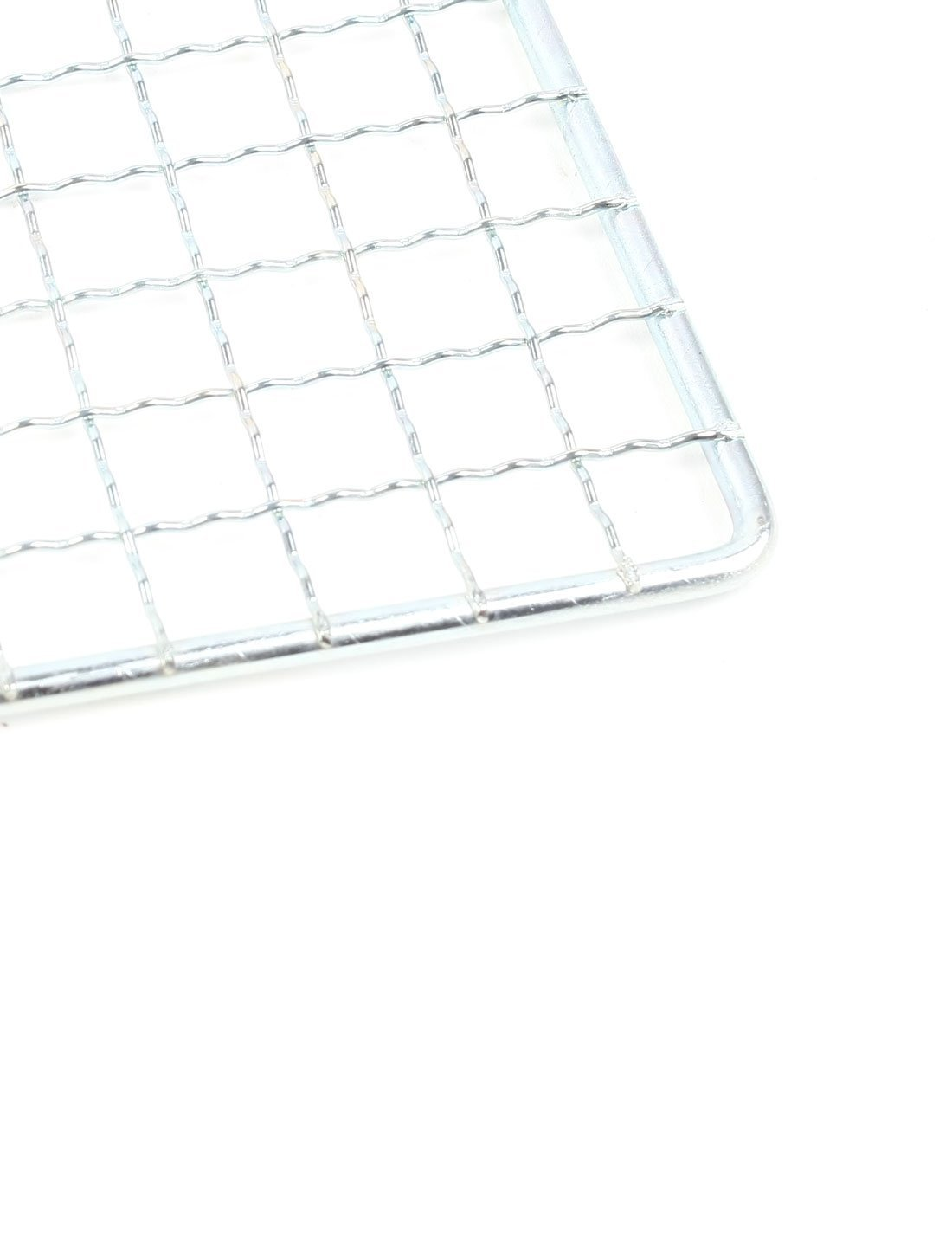 DealMux Picnic Outdoor Metal Barbecue Tool Grilling Net Mesh Silver Tone