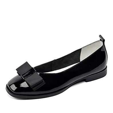 84a222c0f40 DONNAIN Women Genuine Leather Flats Fashion Low Heels Soft Comfortable  Dress Classic Ladies Shoes (7