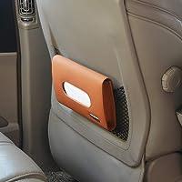 Autofurnish Car Sun Visor Tissue Holder Box with Free Tissues - Tan
