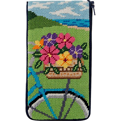 Stitch & Zip Eyeglass Case Needlepoint Kit- Springtime Ride