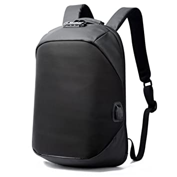 Bloqueo codificado de mochila de lujo para hombres de negocios que viajan de puerto de carga USB Mochila impermeable Mochila mujeres antirrobo: Amazon.es: ...
