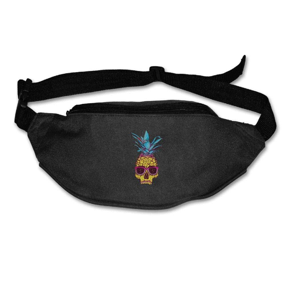 Ada Kitto Pineapple Skull Mens&Womens Sport Style Waist Pack For Running And Cycling Black One Size