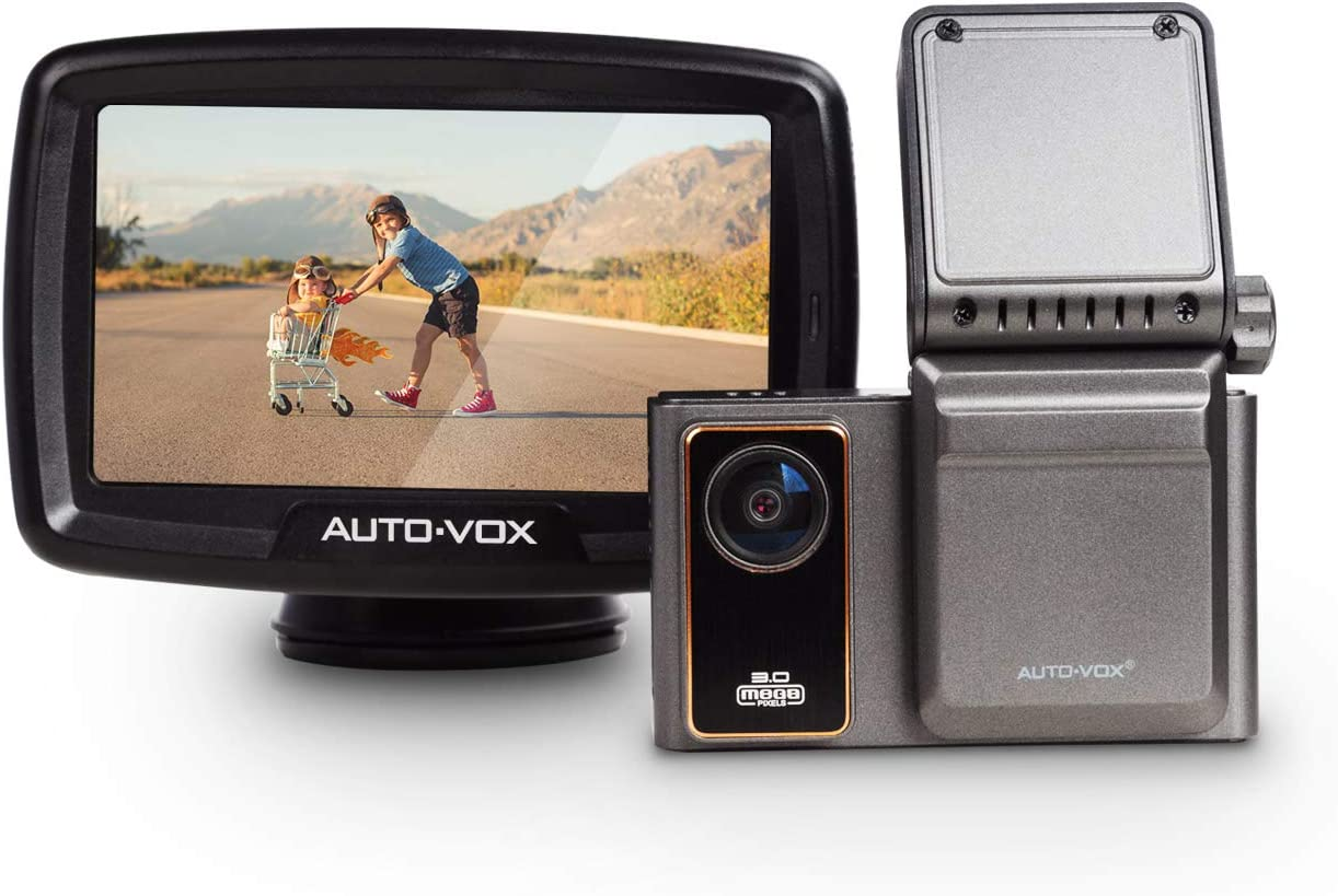 AUTO-VOX Safe Driving Set, AD1 Dual Dash Cam Front and Inside View & CS2 Wireless Backup Camera for Drivier's Safety