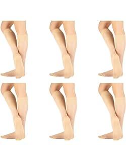 Wide Fit Knee Highs//Pop Socks Ultra Glossy 15 denier 3 pairs in Natural Tan