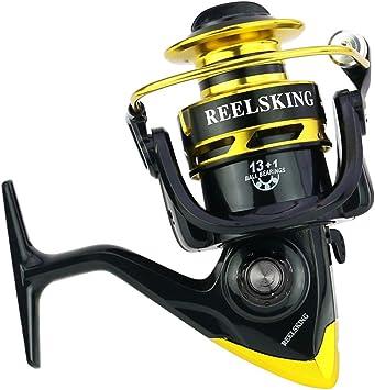 Carrete de pesca Spinning Reel con llama, ligero, ultra liso/13 + ...