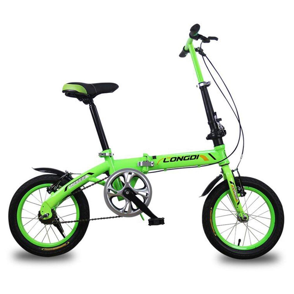 XQ 折り畳み自転車無可変速度非常に軽い男性と女性大人の子供の折りたたみ車14分の16インチの自転車 子ども用自転車 ( 色 : 緑 , サイズ さいず : 16-inch ) B07CJDTPVQ 16-inch|緑 緑 16-inch