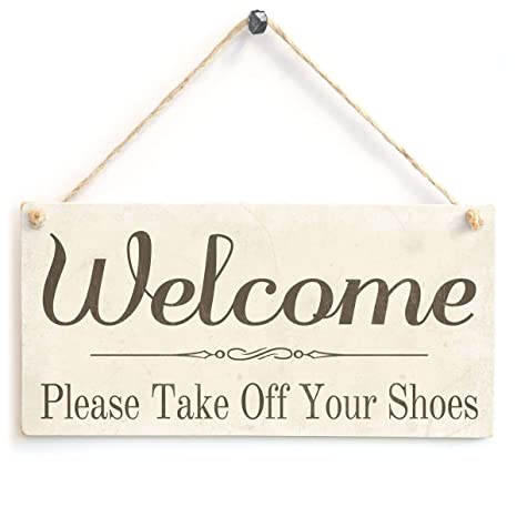 Amazon.com: Bienvenida por favor Take Off Your Shoes ...