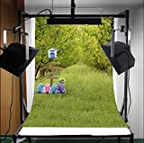 3x5ft Lfeey New Fashion Vinyl Thin Photography Background,Spring Scenic Theme Lovely Bears Attractive Backdrop,1(W)x1.5(H)m For Photo Studio Props,Foldable And Reusable