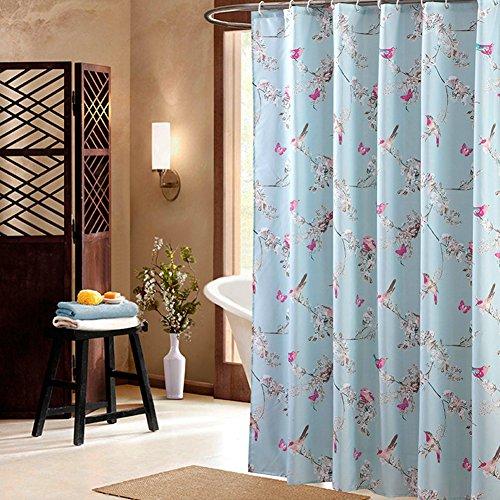 blue bird shower curtain - 9