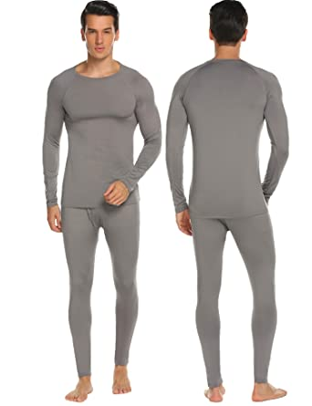 0bd5a7174df Hotouch Men s Thermal Underwear Set Wicking Top and Pant Base Layer ...