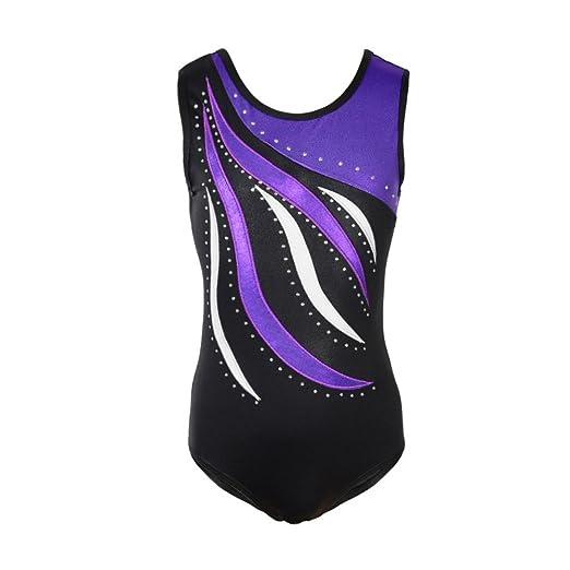 Gymnastics Leotards for Girls Long Sleeve Colorful Ribbons Pink Leopard  Stripe 9b6bb0de7