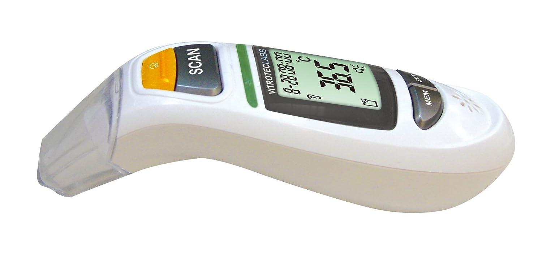 Vitroteclabs - Infrarot-Multifunktions-Thermometer mit Stimmwiedergabe BP00 - Messung in 1 Sekunde an der Stirn - im