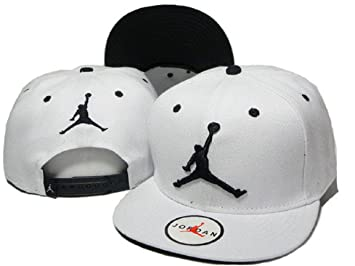 dafe43cb9f2 Air Jordan Hat White with Black Logo  Amazon.co.uk  Sports   Outdoors